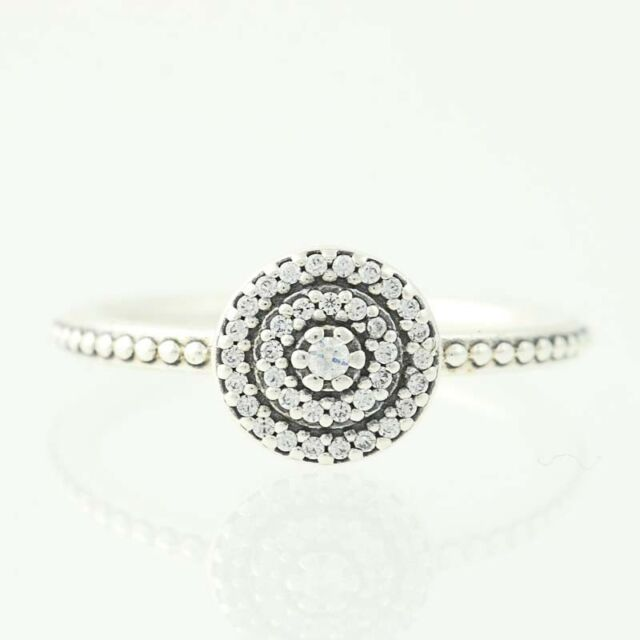 8267d34e1 New Authentic Pandora Ring Radiant Elegance 190986CZ Sterling Clear CZ 48  4.5