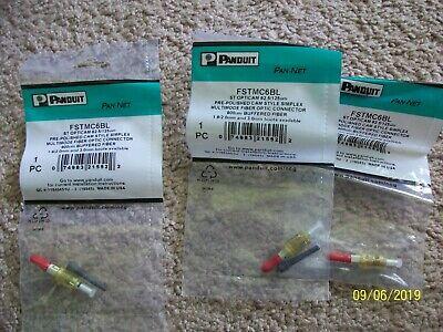 FSTMC6BL  PANDUIT ST OptiCam 62.5//125um Cam Style Fiber Optic Connector