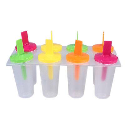 Capace 4 Colori 8 Pezzi Riutilizzabile Fai-da-te Congelatore Creatore Di Lecca Ghiaccio Avere Uno Stile Nazionale Unico