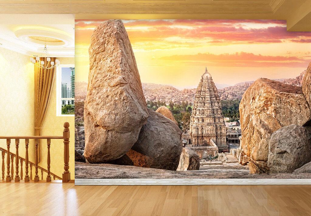 3D Cielo, pietra Parete Murale Foto Carta da parati immagine sfondo muro stampa