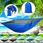 Double Person Hammock Travel Sleep Swing Camping Outdoor Parachute Nylon Fabric