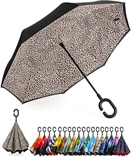 Double Layer Inverted Umbrella Reverse Folding Umbrellas Windproof UV Protection