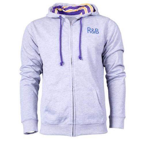 Rupert & Buckley Wootton Zip Through Hooded Top Hoodie S-XL BNWT RRP Grey