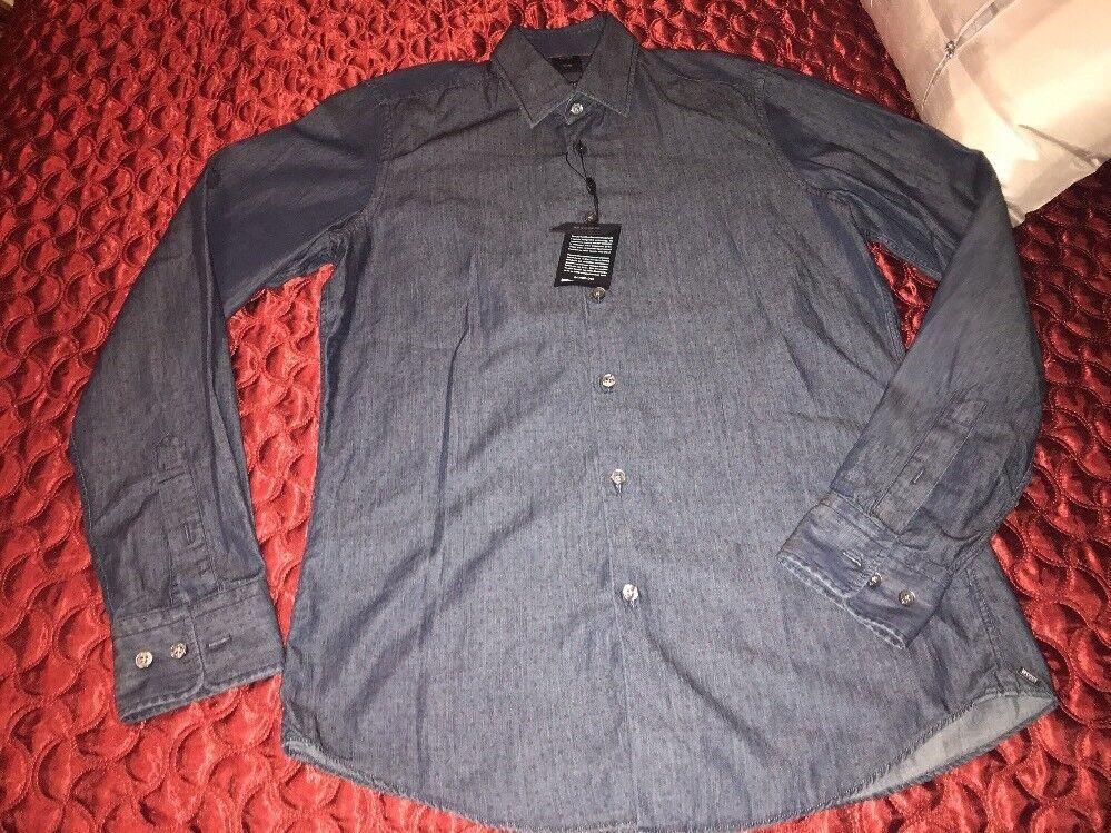 Hugo Boss TailoROT Dress Shirt Größe Small 245