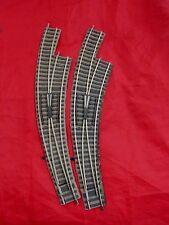 2 X FLEISCHMANN HO GAUGE 6142 (R) PROFI-GLEIS LONG CURVED POINTS-APPROX 280mm