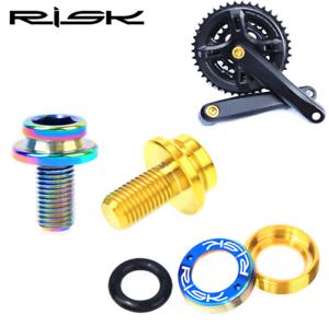 RISK Titanium M8*15mm MTB Bike Bottom Bracket Bolts Bicycle Crank Fixed Screws