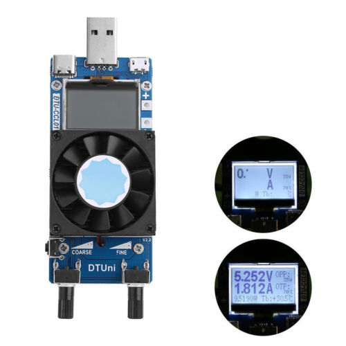 0.2A-3A LCD USB Electronic Load Module Current Resistant Power Battery Tester