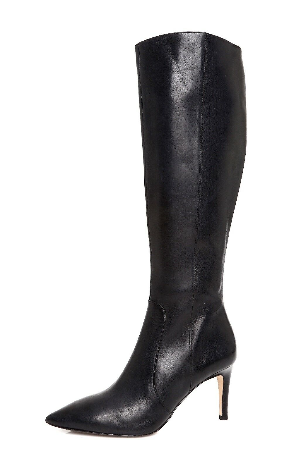 Via Spiga Dacia Pointed Toe Women's Black Leather Boots Sz 5 M 4502