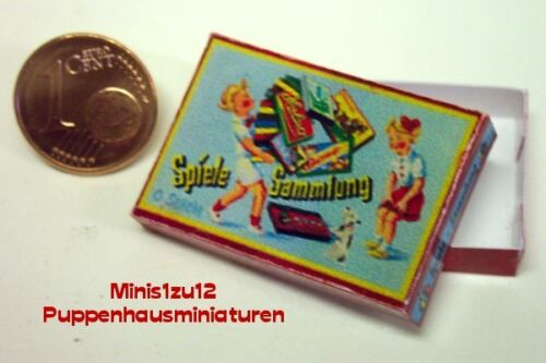 3102# nostalgia-juegos cartón-colección de juegos-casa de muñecas-muñecas Tube-m 1zu12