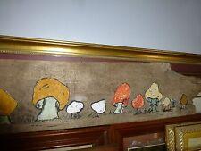 Wooden Mushroom Wall Hanging