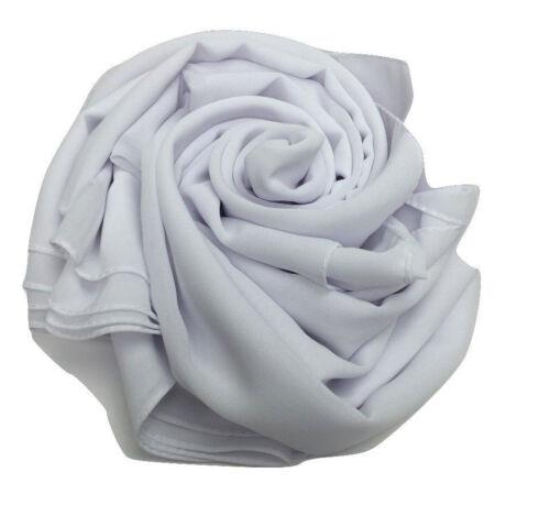 Mousseline Écharpe Hijab haute qualité élégant Sarong Châle Wrap Plain Maxi chfnscr