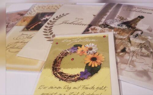 Glückwunschkarten Jubiläum Grußkarte Verschiedene Varianten auswählen NEU