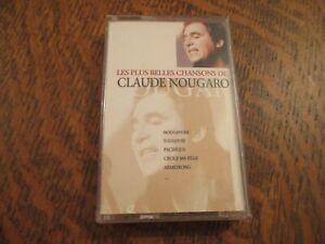 cassette audio les plus belles chansons de CLAUDE NOUGARO