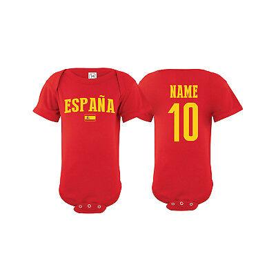 Espana Football Shirt Spain Futbal Baby Grow Romper Suit Babygrow Top Body B40