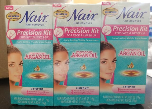Nair Face And Upper Lip Precision Kit W Argan Oil 1ct