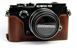 PU-Leather-Half-Camera-Bottom-Case-Bag-Grip-For-Olympus-Pen-F-Pen-F-3-colors