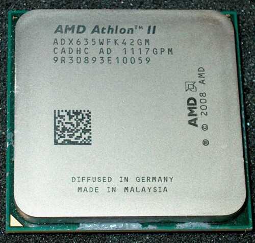 AMD Athlon II  X 4  2.9 GHz  Quad Core 635 Processor ADX635WFK42GM AM2+ AM3