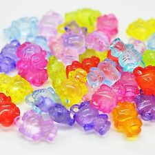 10 x Acrylic Plastic Hello Kitty Pendant Charm Mixed Colour for Dummy Clips