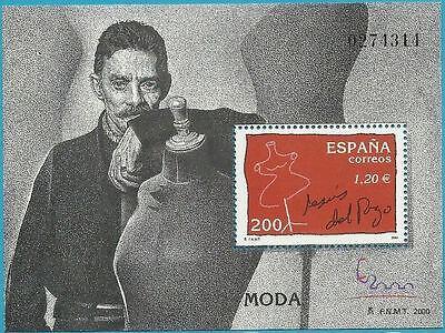 Designer! Del Pozo Spanien Aus 2000 ** Postfrisch Block 89 Minr.3592