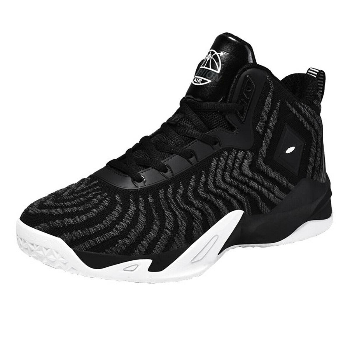 Mens Sports Breathable Basketball shoes Mid Top Mesh Non-slip Athletic Casual