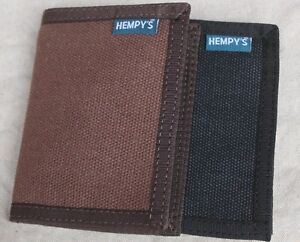 HEMP-fabric-WALLET-Bifold-USA-MADE-black-brown-HEMPY-039-S-bi-fold-natural-Vegan