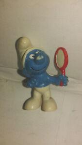 Bd-figurine-schtroumpf-miroir-1972-peyo-schleich-SMURF-PUFFI