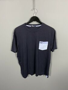 FRED-PERRY-T-Shirt-XL-Navy-Great-Condition-Men-s