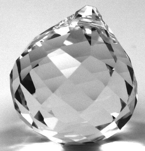 Kristallkugel Glaskugel 40mm spirale facettiert SPECTRA CRYSTAL von Swarovski