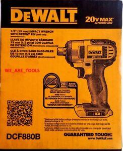 NEW-IN-BOX-Dewalt-DCF880B-20V-Cordless-Battery-1-2-034-Impact-Wrench-Detent-Pin-MAX