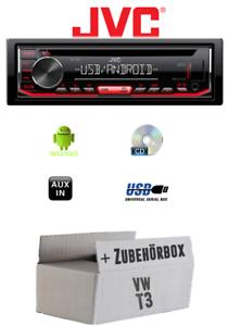 VW Bus t3-Autoradio Radio JVC kd-t402CDmp3USBAndroid-einbauzubeh