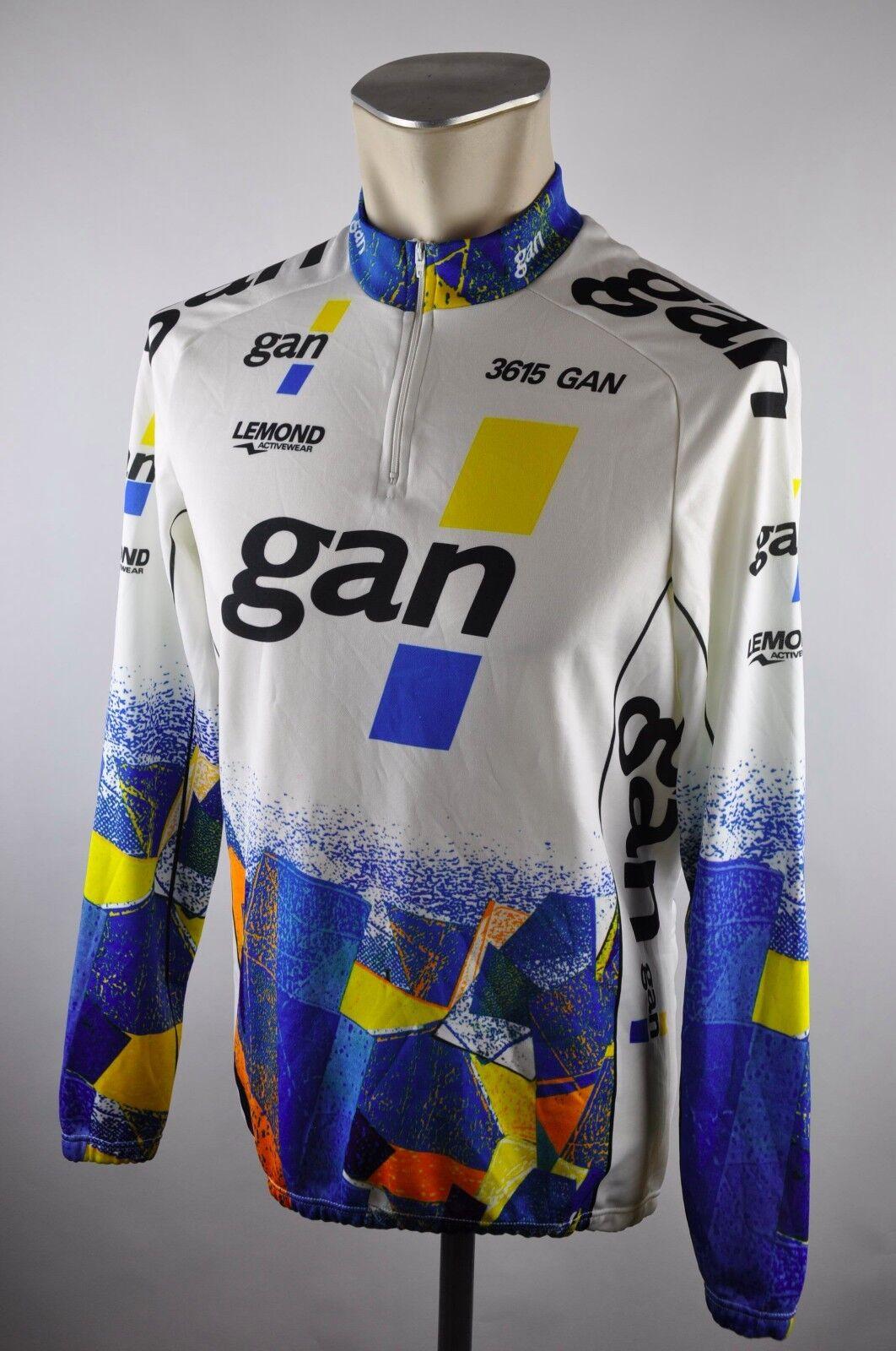 Gan Lemond  Longsleeve cycling jersey  maglia Rad Trikot Gr. M 54cm U1  100% fit guarantee
