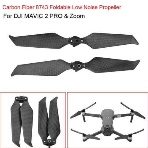 8743F lärmarm Kohlefaser Propeller Zubehör für DJI Mavic 2 Pro Zoom