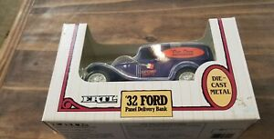 ERTL-039-32-Ford-Panel-Delivery-Locking-Coin-Bank-NIB-1-25-Scale