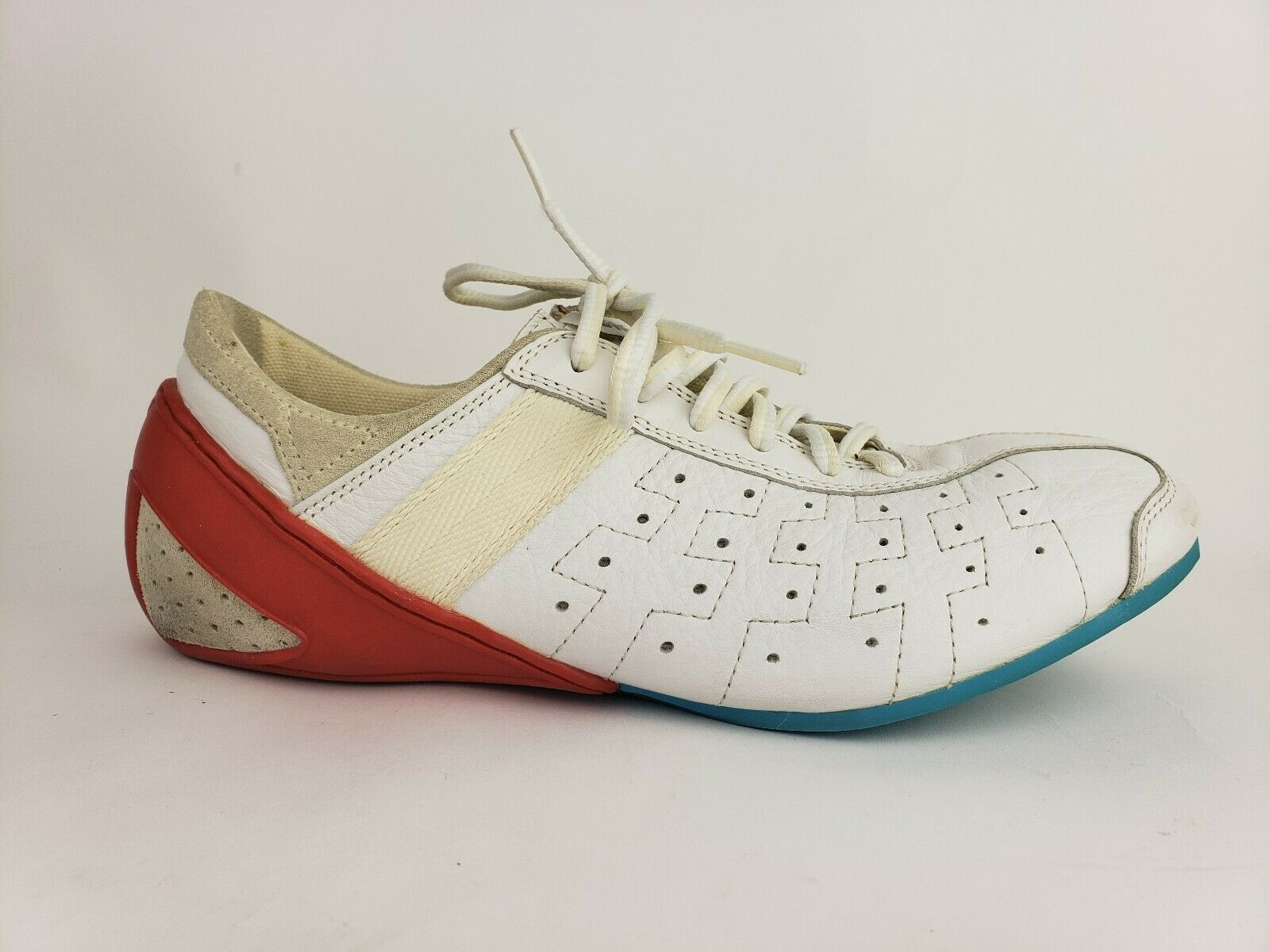 Pony Mens Size 9.5 Vintage Sneakers White Red Teal bluee (702100007221)
