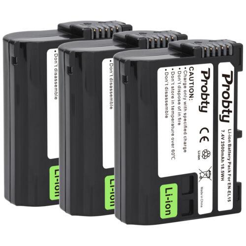 EN-EL15 Batería Cargador para Nikon D750 D7500 D850 D810 D800 D7200 D500 D610