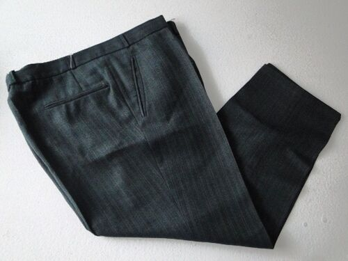 Bella Pantaloni Pantaloni Pantaloni Uomo Pantaloni panno verde scuro a righe tg. 56 5cffdb