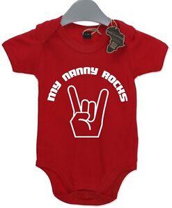 Image Is Loading My Nanny Rocks Baby Grow BabyGrow Funny Cool