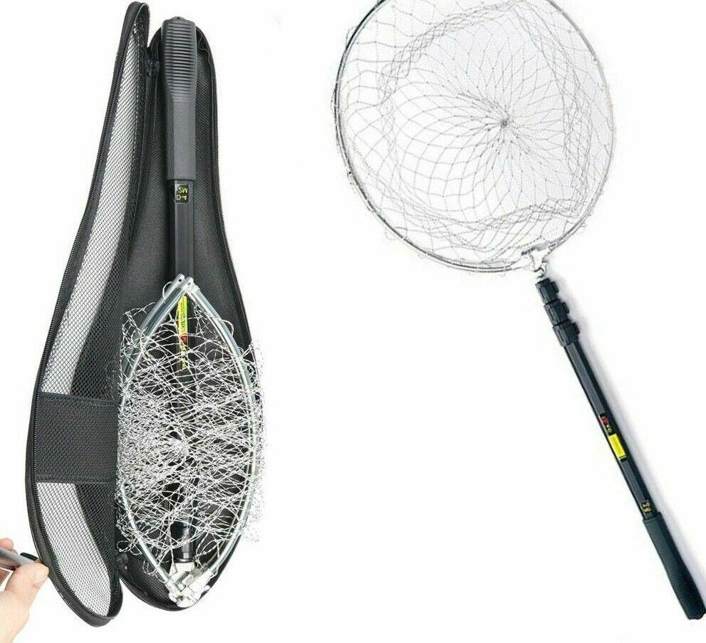 Entziehbare Fliege Fishing Net Stainless Steel Aluminium Mesh MonofilaSiet Fish Nets