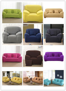 1/2/3/4 Seater Sofa Slipcover Stretch Protector Soft Couch Cover Easy Fit Hot
