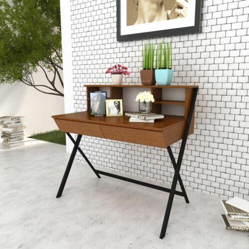 vidaXL Schreibtisch mit 2 Schubladen Computertisch Bürotisch Arbeitstisch