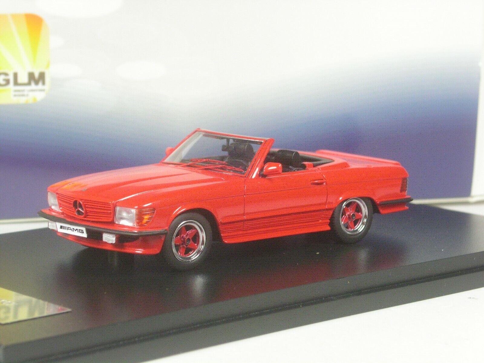 (KI-08-19) GLM Mercedes-Benz 500 SL AMG R107 rot 1 43 in OVP    Zu verkaufen