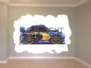 Huge-Koolart-Cartoon-Subaru-Rally-Side-Wall-Sticker-Poster-Mural-1851