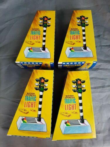 4x Vintage Battery Operated Traffic Light Toy Verkehrsampel Hong Kong ca 70er J.