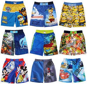 68eea5f2f5 Image is loading Boys-Swim-Shorts-Swimming-Trunks-Paw-Patrol-Minions-