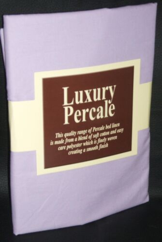 """New 3FT6 x 6FT 6/"""" Super Single Bed Fitted Sheet Pillowcase Lilac"""