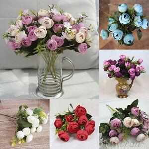 Vintage Artificial Fake Roses European Silk Flowers Wedding Garden