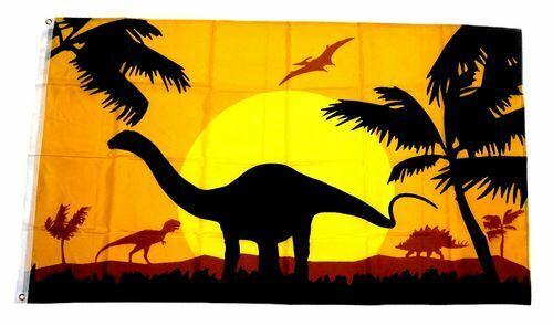 Bandiera//bandiera dinosauri SILHOUETTE hissflagge 90 x 150 cm