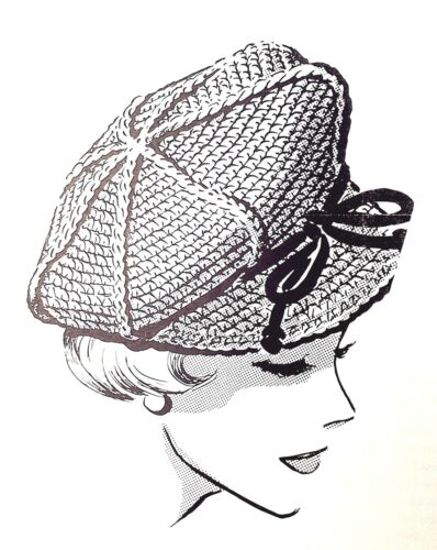 Reproduction 5174 Vintage Mail Order CROCHETED HAT Pattern to Crochet
