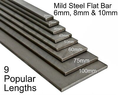Stainless Steel Flat Bar Strip Plate Many sizes and lengths Metal Rod Section