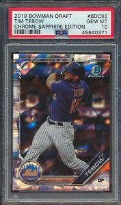 2019-Bowman-Chrome-Sapphire-BDC92-Tim-Tebow-RC-Rookie-PSA-10-GEM-MINT-45640371